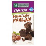 damhert piena šokolāde ar lazdu riekstiem 85g balti-violetā iepakojumā
