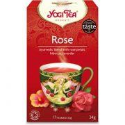 Yogi tea rožu tēja 34 g sarkanā kastītē