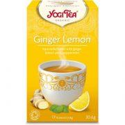 Yogi tea tēja ar citronu un ingveru 30,6g dzeltenā kastītē
