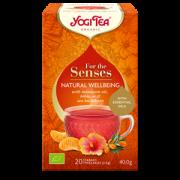 Yogi tea natural wellbeing 40g oranžā kastītē