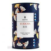 Moya matcha kukicha zaļā tēja 60 g tumši zilā raibā kārbā