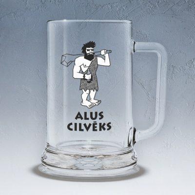 Alus kauss, dadzis, 500ml, ar attēlotu alu cilvēku un tekstu - Alus cilvēks