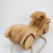Lotes toys koka rotaļlieta velkamais auto