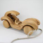 Lotes toys koka rotaļlieta velkamais auto 2