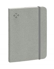 Purpurs Touch piezīmju grāmata ar gumiju pelēka 105x145mm-1