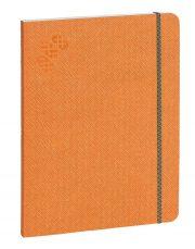 Purpurs Touch piezīmju grāmata ar gumiju oranža 190x254mm
