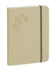 Purpurs Touch piezīmju grāmata ar gumiju krēmkrāsas 105x145mm-1