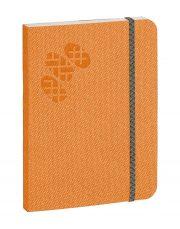 Purpurs Touch piezīmju grāmata ar gumiju oranža 105x145mm-1