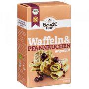 Bauck hof maisījums vafeļu un pankūku pagatavošanai 200 g oranžā kastītē