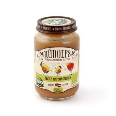 Rūdolfs ābolu un bumbieru biezenis bērniem 190g burciņā