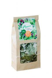 Tēja Pļavā, pļavas ziedu tēja (meža aveņu lapas, piparmētras, lazdu lapas, nātres), 25g