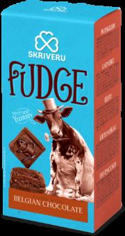 Skrīveru saldumi, mīkstā Fudge karamele ar Beļģu šokolādi, 120g