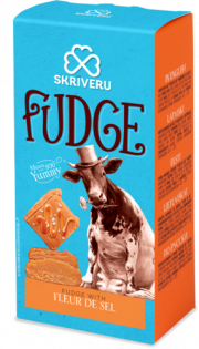 """Skrīveru saldumi, mīkstā Fudge karamele ar sāli """"Fleur de sel"""", 120g"""