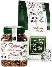 LindaGriin, dzērveņu un pelašķu tēja, burkā, 70g