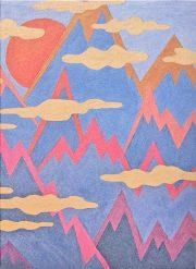 """Kartīte, """"Kalni"""" (105x145mm)"""