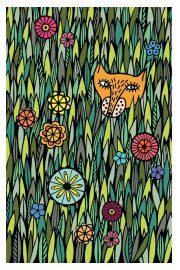 """Kartīte, """"Lapsa ziedos"""" (100x150mm)"""