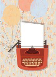 """Kartīte, """"Rakstāmmašīna"""" (105x145mm)"""