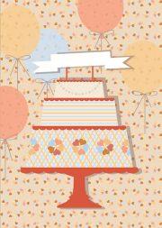 "Kartīte, ""Torte"" (100x150mm)"