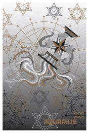 """Kartīte, """"Ūdensvīrs"""" (100x105mm)"""