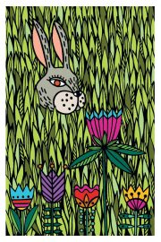 "Kartīte, ""Zaķis ziedos"" (100x150mm)"