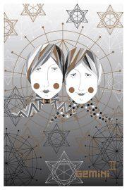 "Kartīte, ""Dvīņi"" (100x150mm)"