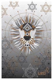 """Kartīte, """"Lauva"""" (100x150mm)"""