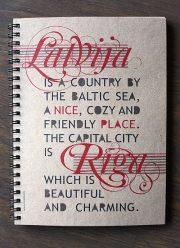 """Nice Place, blociņš no pārstrādāta papīra, """"Latvija, Rīga"""", 150x210mm, 96lpp"""