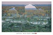 """Kartīte, """"Latvijas kontūra. Purvs"""" (100x150mm)"""