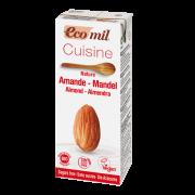 Ecomil, mandeļu krēms kulinārijai bez cukura, BIO, 200ml baltā iepakojumā