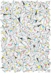 """Dāvanu papīrs """"Kristāli"""" (500x700mm)"""