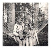 """Kartīte, """"Brālis un māsa"""" (105x100mm)"""
