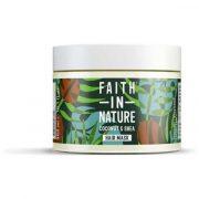 Faith in nature, mitrinoša matu maska ar kokosriekstu un šī sviestu, 300ml