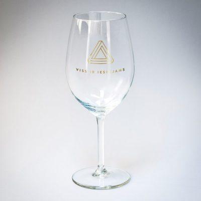 Vīna glāze, 550ml, ar attēlotu tekstu - viss ir iespējams, zelta drukā