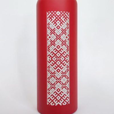 Alumīnija pudele, 800ml, ar attēlotu lielvārdes jostu