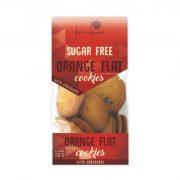 Kārumu Fabrika, apelsīnu cepumi ar šokolādi, bez cukura, 150g oranžā iepakojumā