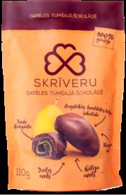 Skrīveru saldumi, dateles tumšajā šokolādē, 110g
