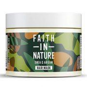 Faith in Nature, barojoša matu maska ar šī sviestu un argāna eļļu, 300ml