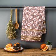 Latvijas Tekstils, dvielis ar Siguldas etnogrāfisko rakstu, 46x70cm