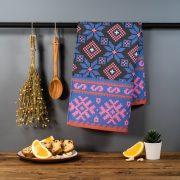 Latvijas Tekstils, dvielis ar Nīcas etnogrāfisko rakstu, 46x70cm