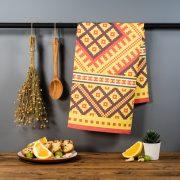 Latvijas Tekstils, dvielis ar Alsungas etnogrāfisko rakstu, 46x70cm