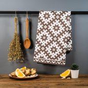 Latvijas Tekstils, dvielis ar Slates etnogrāfisko rakstu, 46x70cm