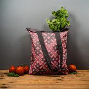"""Latvijas Tekstils, lina maisiņš """"Ziemeļu raksti - Häädemeeste"""", 35x40cm"""