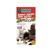 Damhert, tumšā šokolāde ar kapučino garšu, bez cukura, 85g