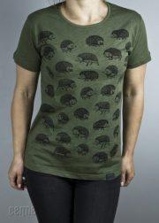 """Cemme, zaļš T-krekls """"Eži"""""""