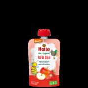 """Holle, BIO ābolu biezenis ar zemenēm """"Red Bee"""" no 6 mēn., 100g"""