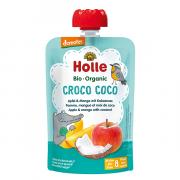 """Holle, BIO ābolu un mango biezenis ar kokosriekstiem """"Croco Coco"""" no 8 mēn., 100g"""