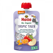"""Holle, BIO ābolu biezenis ar mango un marakuju """"Tropic Tiger"""" no 8 mēn., 100g"""