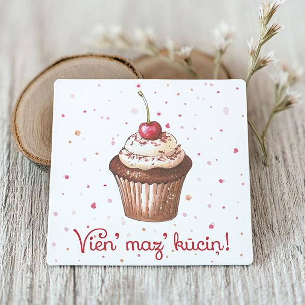 Vinila magnēts ar kūciņu ar tekstu Vien maz kūciņ
