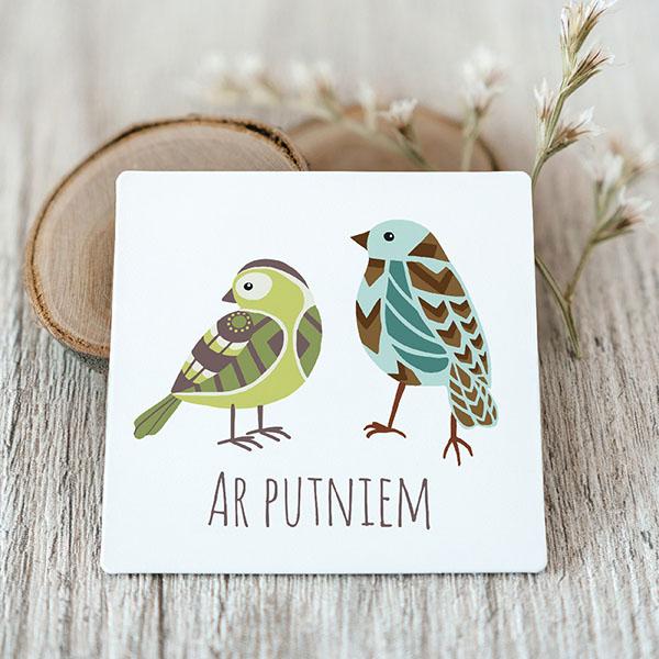 Vinila magnēts ar putniem