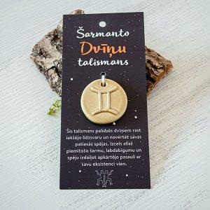 """Māla talismans ar horoskopu zīmi """"Dvīņi"""""""